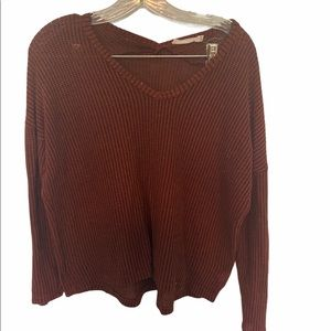 Rust and Black LUSH Knit Sweater